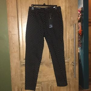 FDJ Black w/white polka dots jeans higher rise